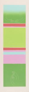 Roke-zeleno / Hands-Green, 2005, barvni linorez / colour linocut, 100 x 32 cm