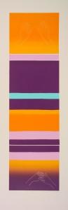 M.B.I / S.B. I, 2007, barvni linorez / colour linocut, 100 X 33 cm
