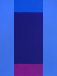 B.N. Modra / Blue, 2010, akril na platnu / acrylic on canvas, 80 x 60 cm