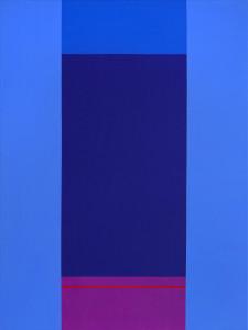 B.N. Modra / Blue, 2010, akril na platnu / acrylic on canvas, 80 x 60 cm