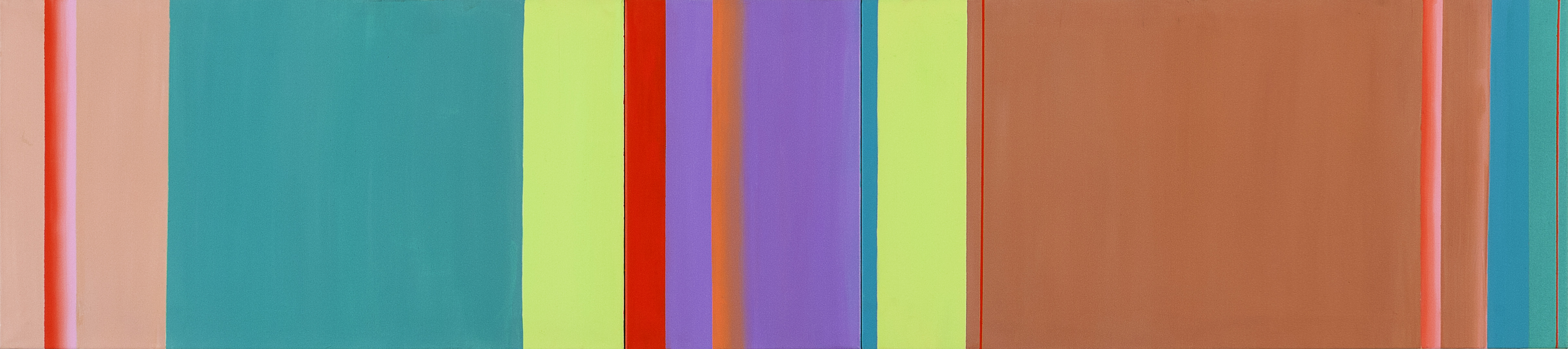 08. Hloa ¬ Quattrocento, 2007, akril na platnu / acrylic on canvas, 45 x 200 cm